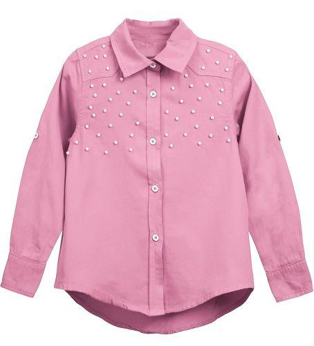 Блузка для девочки Bonito kids 7-10 лет розовая, сатиновая