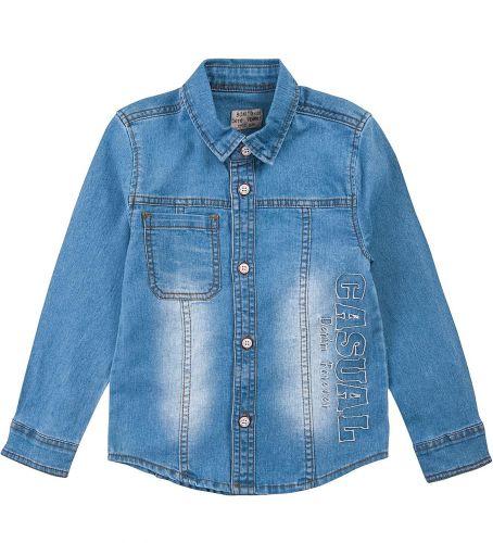 """Джинсовая рубашка для мальчика Bonito Jeans """"Casual"""" 1-8 лет."""