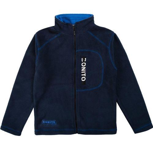 Флисовый джемпер для мальчиков Bonito kids 9-12 лет, темно-синяя