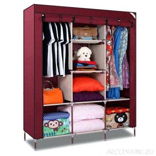 Складной каркасный тканевый шкаф Storage Wardrobe, Цвет: Коричневый