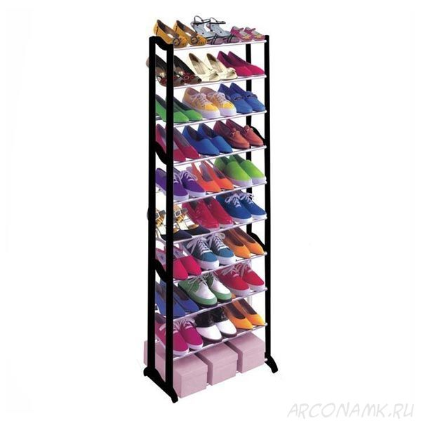Стойка для обуви Amazing Shoe Rack, Цвет: Чёрный