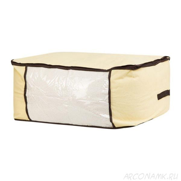 Мягкий кофр-чехол на молнии для хранения одеял, пледов и домашнего текстиля Guarda Mantas , Размер: 45х45х20 см