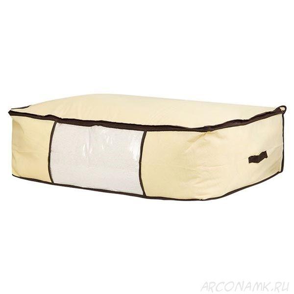 Мягкий кофр-чехол на молнии для хранения одеял, пледов и домашнего текстиля Guarda Mantas , Размер: 100х45х15 см