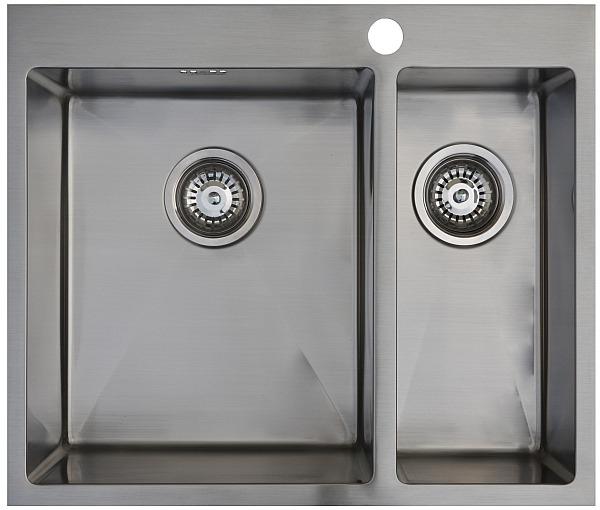 Врезная кухонная мойка Seaman ECO Marino SMB-6151DRS.B 61х51см нержавеющая сталь