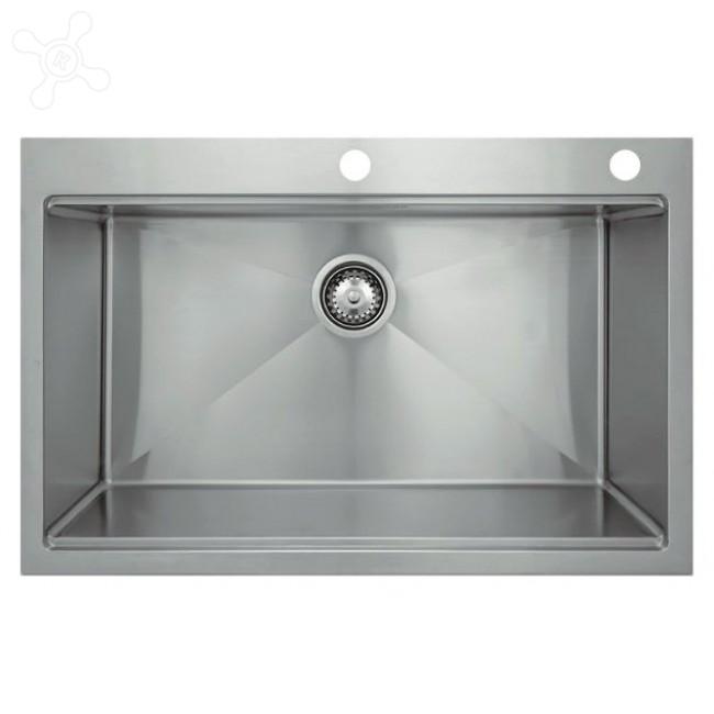 Врезная кухонная мойка Seaman ECO Marino SMB-8052SK с клапаном-автоматом 80х52см нержавеющая сталь