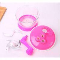 Универсальная Механическая Овощерезка Multi- functional Food Cooking Machine, Цвет Розовый (4)
