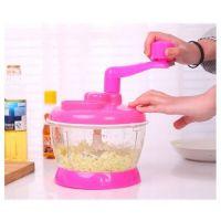 Универсальная Механическая Овощерезка Multi- functional Food Cooking Machine, Цвет Розовый (2)