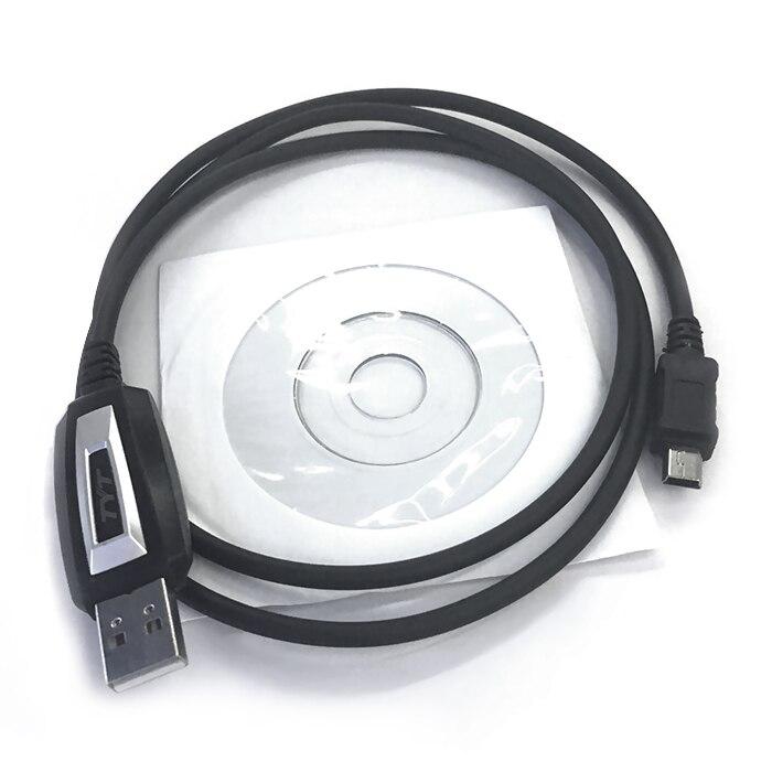 USB кабель и CD диск для программирования раций TYT TH-9800, TH-8600, TH-7800 и TH-MP800