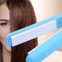 Мини-утюжок для волн гофре Ion Hair-Perming Appliance, Цвет: Голубой