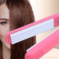 Мини-утюжок для волн гофре Ion Hair-Perming Appliance, Цвет: Розовый