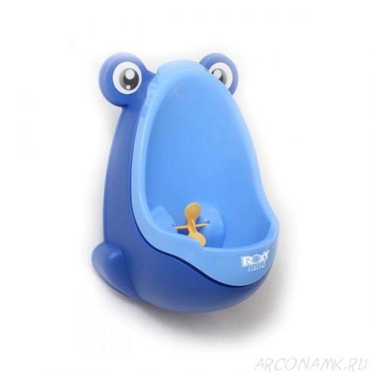 """Писсуар для мальчиков с прицелом """"Лягушка"""", Цвет: Синий оттенок"""