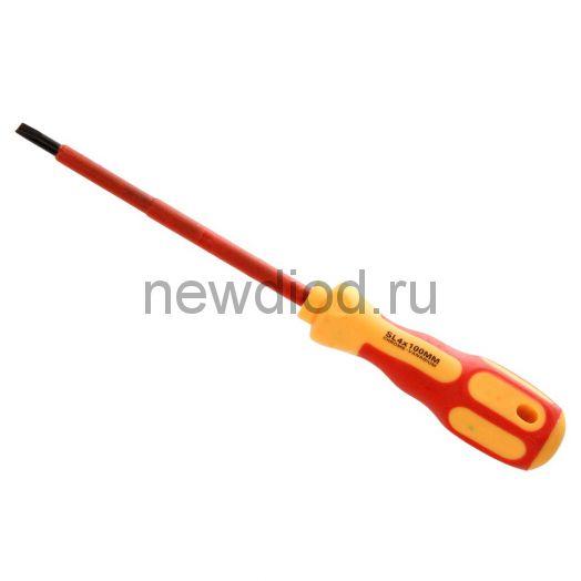 Отвертка шлицевая «Электрика» SL 4х100 мм REXANT