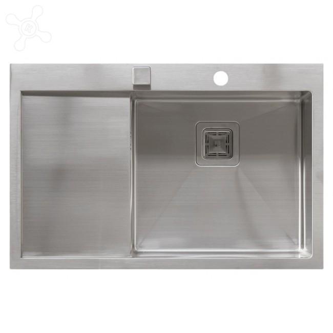 Врезная кухонная мойка Seaman ECO Marino SMB-7851LSQ.B 78х51см нержавеющая сталь