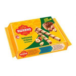 Трубочки Яшкино вафельные с орехом, 190 г