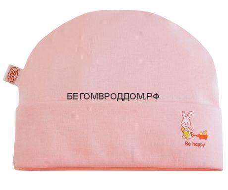Шапочка с отворотом, розовый, размер 56/НАША МАМА