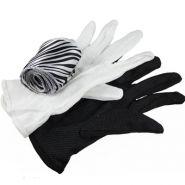 Перчатки зебра (Размер перчаток не указан, Шарф - 6 см х 3 м) (+ ОБУЧЕНИЕ)