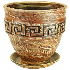 горшок рельеф меандр 2 песок 6-13 (81-213)