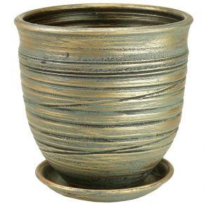 горшок Цилиндр Волна зел.27см 4-08 (Ц11/3)