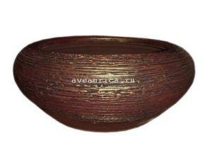 кашпо плошка 22см (бронза) (40-12)
