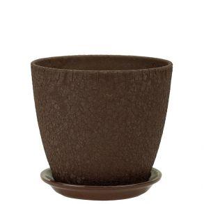 горшок бутон Винил шоколад 15см (ВН 04/2)