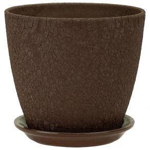 горшок бутон Винил шоколад 21см (ВН 04/4)