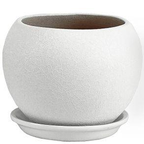горшок шар Винил белый 1,8л (ВН602/2)
