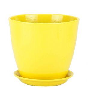 горшок бутон Глянец желтый 18см (ГЛ 02/3)