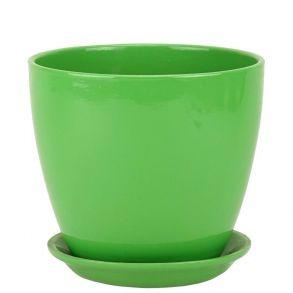горшок бутон Глянец зеленый 18см (ГЛ 03/3)