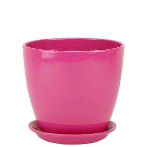 горшок бутон Глянец розовый 15см (ГЛ 04/2)