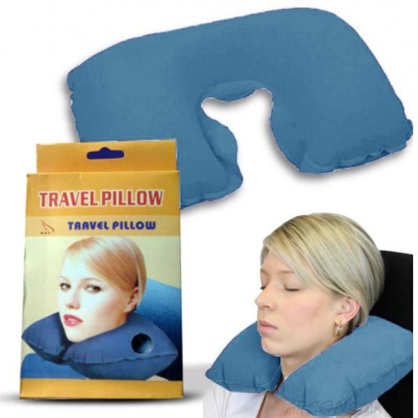 Подушка для путешествий Travel Pillow (Тревел Пиллоу), Цвет: Голубой