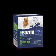 BOZITA Tetra Pac Naturals Влажный корм для собак, кусочки в желе с лосятиной. 370гр.
