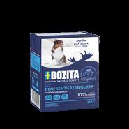 BOZITA Tetra Pac Naturals Влажный корм для собак, кусочки в желе с олениной. 370гр.