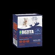 BOZITA Tetra Pac Naturals Влажный корм для щенков и взрослых собак, кусочки в желе с курицей. 370гр.