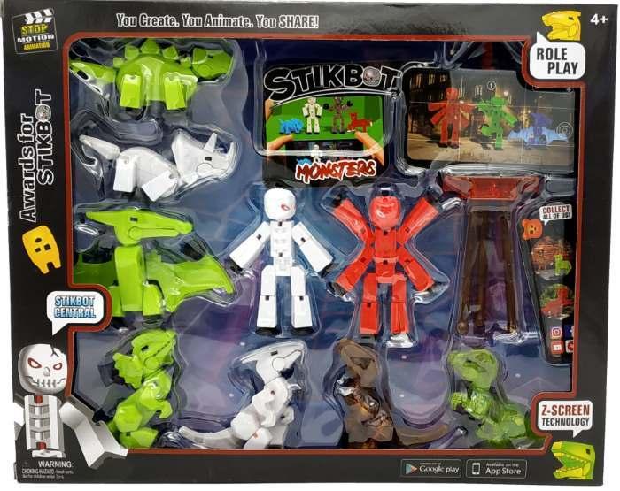 Cтикбот набор - Stikbot Studio DinoMonsters 9 героев