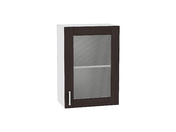 Шкаф верхний Лофт В500 со стеклом (Wenge Veralinga)