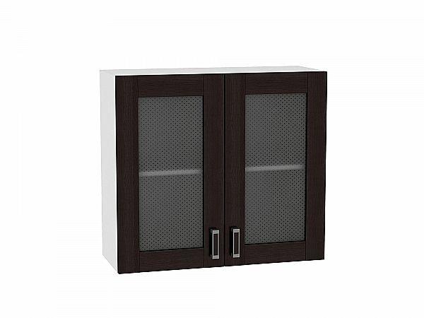 Шкаф верхний Лофт В800 со стеклом (Wenge Veralinga)