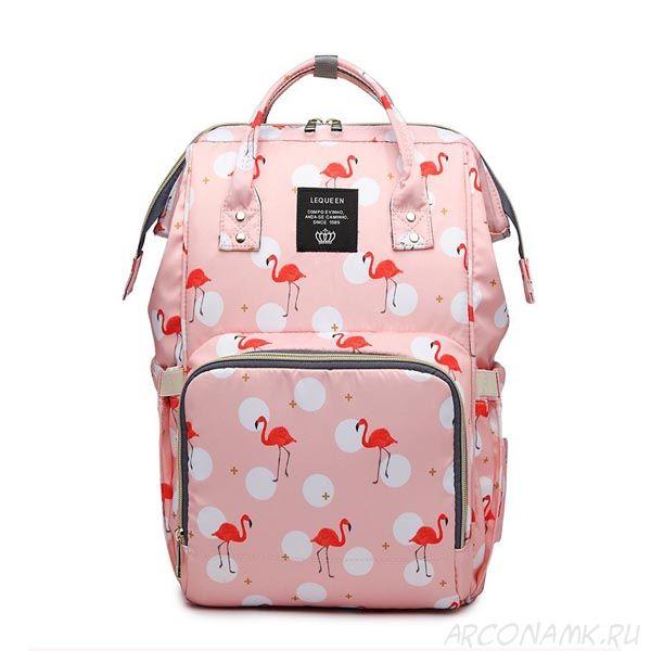 Сумка-рюкзак для мамы Mummy Bag Фламинго, Цвет: Розовый