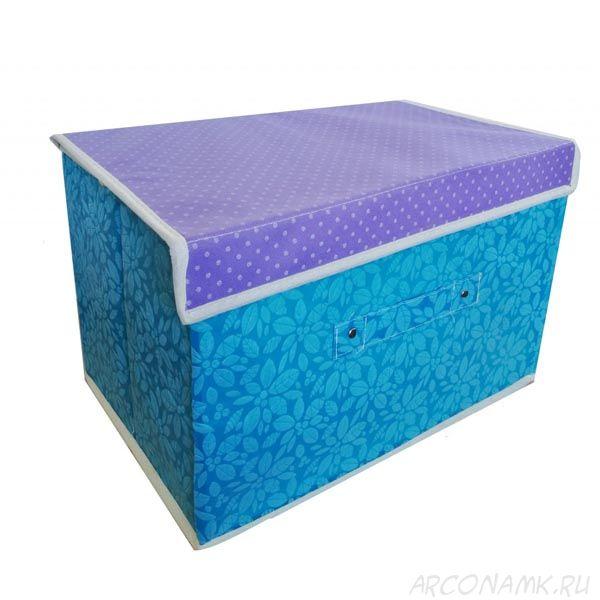 Складной короб для хранения вещей, 36х24х24 см., Цвет: Голубой