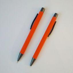 оранжевые ручки с софт тач покрытием