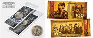 10+100 рублей - SCORPIONS -НАБОР МОНЕТА+БАНКНОТА