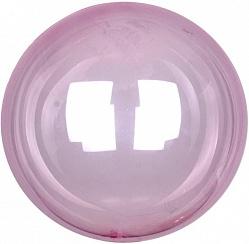 Шар (18''/46 см) Сфера 3D, Deco Bubble, Розовый, Кристалл, 1 шт., Китай