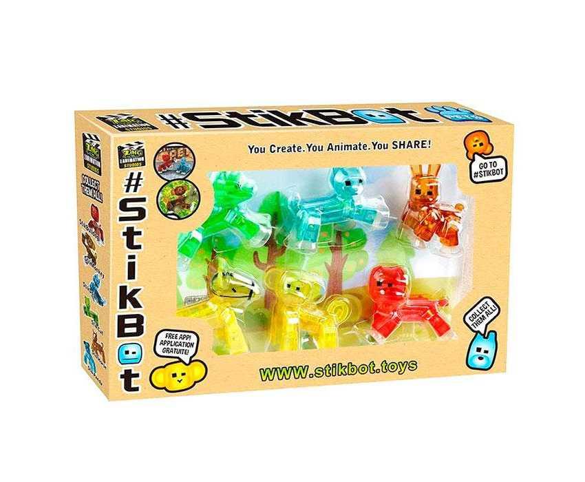 Набор Стикбот животные Stikbot Pets 6 штук