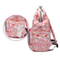 Сумка-рюкзак для мамы Mummy Bag Фламинго (8)