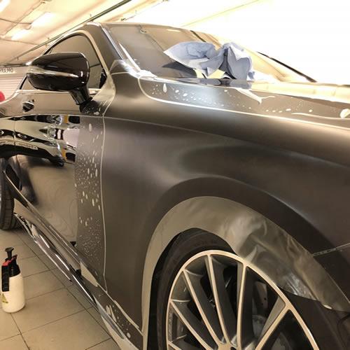 Оклейка кузова авто защитной матовой плёнкой