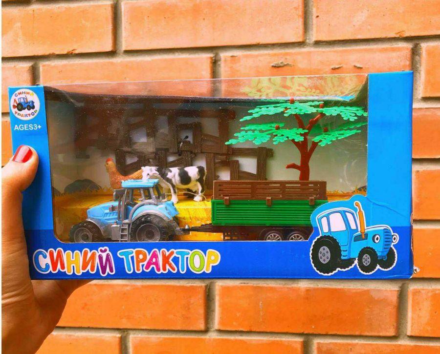 Синий трактор в ассортименте