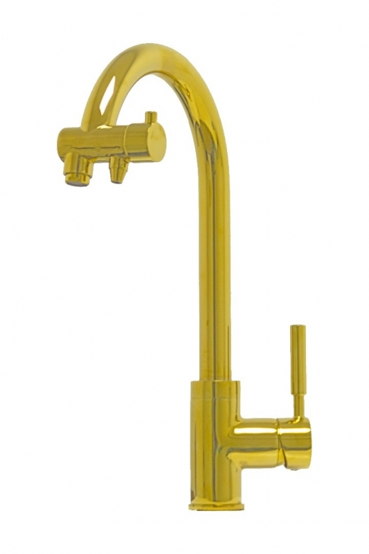 Смеситель для кухни (мойки) Seaman Barcelone SSL-5226 Sun однорычажный золото