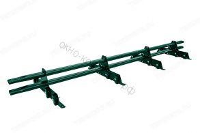 Снегозадержатель трубчатый плоскоовальный New Line 20х40 мм, L-3 м, 4 опоры для металлочерепицы