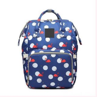 Сумка-рюкзак для мамы, Фламинго, Цвет: Синий