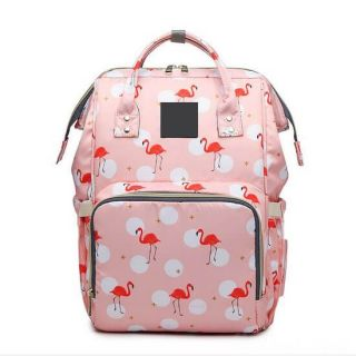 Сумка-рюкзак для мамы, Фламинго, Цвет: Розовый