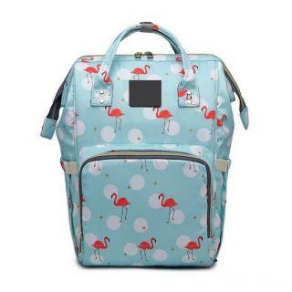 Сумка-рюкзак для мамы, Фламинго, Цвет: Голубой